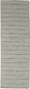 Kelim Long Stitch - Harmaa Matto 80X240 Moderni Käsinkudottu Käytävämatto Vaaleanharmaa/Tummanharmaa (Villa, Intia)