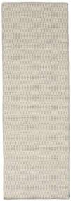 Kelim Long Stitch - Beige Matto 80X240 Moderni Käsinkudottu Käytävämatto Tummanbeige/Vaaleanharmaa (Villa, Intia)