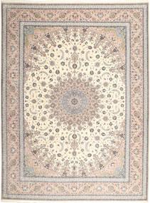 Isfahan Silkkiloimi Matto 315X420 Itämainen Käsinsolmittu Vaaleanharmaa/Beige Isot (Villa/Silkki, Persia/Iran)