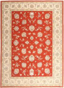 Tabriz 50 Raj Silkillä Matto 296X403 Itämainen Käsinsolmittu Beige/Ruoste/Punainen Isot (Villa/Silkki, Persia/Iran)