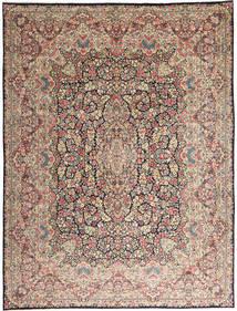 Kerman Matto 290X387 Itämainen Käsinsolmittu Vaaleanharmaa/Tummanruskea Isot (Villa, Persia/Iran)