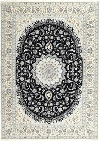 Nain 6La Matto 250X340 Itämainen Käsinsolmittu Vaaleanharmaa/Beige Isot (Villa/Silkki, Persia/Iran)