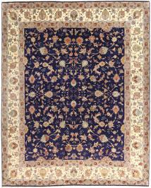 Tabriz 50 Raj Matto 255X305 Itämainen Käsinsolmittu Tummanvioletti/Beige Isot (Villa/Silkki, Persia/Iran)