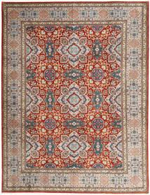 Tabriz 50 Raj Matto 302X393 Itämainen Käsinsolmittu Vaaleanharmaa/Tummanpunainen Isot (Villa, Persia/Iran)