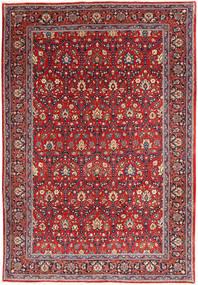 Varamin Matto 209X308 Itämainen Käsinsolmittu Tummanpunainen/Tummanvioletti (Villa, Persia/Iran)