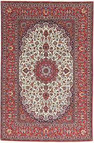 Isfahan Silkkiloimi Matto 155X240 Itämainen Käsinsolmittu Tummanpunainen/Vaaleanharmaa (Villa/Silkki, Persia/Iran)