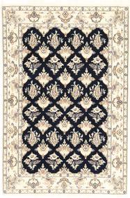 Nain 6La Matto 110X167 Itämainen Käsinsolmittu Beige/Vaaleanharmaa (Villa/Silkki, Persia/Iran)