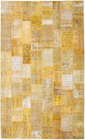 Patchwork Matto 304X501 Moderni Käsinsolmittu Tummanbeige/Keltainen/Vaaleanruskea Isot (Villa, Turkki)