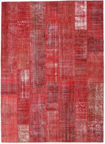 Patchwork Matto 253X352 Moderni Käsinsolmittu Tummanpunainen/Punainen/Ruoste Isot (Villa, Turkki)