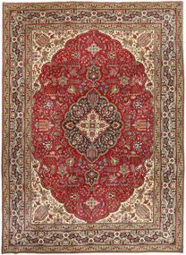 Tabriz Patina Matto 250X345 Itämainen Käsinsolmittu Tummanruskea/Tummanpunainen Isot (Villa, Persia/Iran)