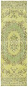 Colored Vintage Matto 82X270 Moderni Käsinsolmittu Käytävämatto Vaaleanvihreä/Keltainen (Villa, Turkki)