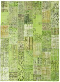 Patchwork Matto 273X372 Moderni Käsinsolmittu Vaaleanvihreä/Oliivinvihreä Isot (Villa, Turkki)