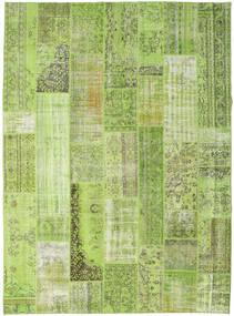 Patchwork Matto 274X370 Moderni Käsinsolmittu Vaaleanvihreä/Oliivinvihreä Isot (Villa, Turkki)