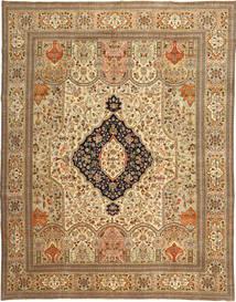 Tabriz Patina Tabatabi Matto 295X390 Itämainen Käsinsolmittu Vaaleanruskea/Tummanbeige Isot (Villa, Persia/Iran)