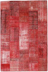 Patchwork Matto 199X297 Moderni Käsinsolmittu Tummanpunainen/Ruoste (Villa, Turkki)