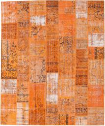 Patchwork Matto 252X303 Moderni Käsinsolmittu Oranssi/Vaaleanruskea Isot (Villa, Turkki)
