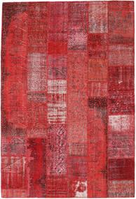 Patchwork Matto 203X300 Moderni Käsinsolmittu Tummanpunainen/Punainen/Ruoste (Villa, Turkki)