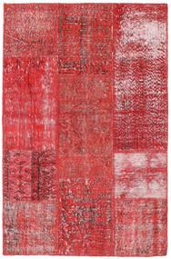 Patchwork Matto 120X186 Moderni Käsinsolmittu Tummanpunainen/Ruoste (Villa, Turkki)