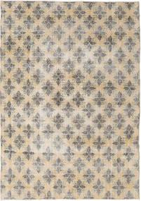 Colored Vintage Matto 211X305 Moderni Käsinsolmittu Vaaleanharmaa/Beige (Villa, Turkki)