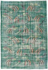 Colored Vintage Matto 189X258 Moderni Käsinsolmittu Siniturkoosi/Pastellinvihreä (Villa, Turkki)