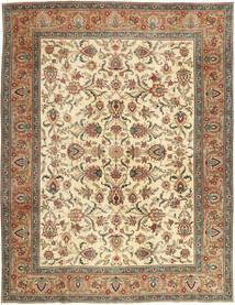 Tabriz Patina Matto 302X390 Itämainen Käsinsolmittu Ruskea/Tummanbeige Isot (Villa, Persia/Iran)