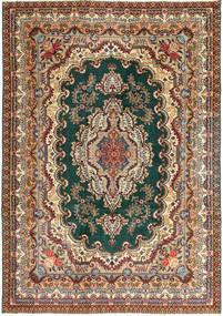 Tabriz Patina Matto 237X344 Itämainen Käsinsolmittu Vaaleanruskea/Tummanruskea (Villa, Persia/Iran)