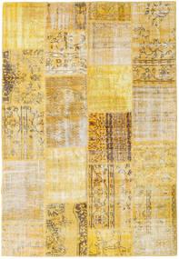 Patchwork Matto 161X235 Moderni Käsinsolmittu Tummanbeige/Vaaleanruskea (Villa, Turkki)