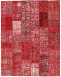 Patchwork Matto 203X260 Moderni Käsinsolmittu Punainen/Tummanpunainen (Villa, Turkki)