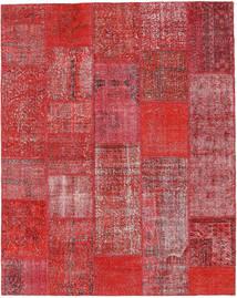 Patchwork Matto 202X255 Moderni Käsinsolmittu Ruoste/Tummanpunainen (Villa, Turkki)