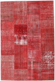 Patchwork Matto 202X303 Moderni Käsinsolmittu Ruoste/Tummanpunainen (Villa, Turkki)