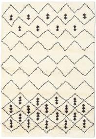 Berber Indo - Off-Valkoinen/Musta Matto 120X180 Moderni Käsinsolmittu Beige/Valkoinen/Creme (Villa, Intia)