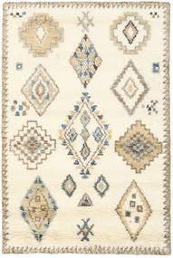 Berber Indo - Valkea/Beige Matto 120X180 Moderni Käsinsolmittu Keltainen/Vaaleanruskea (Villa, Intia)
