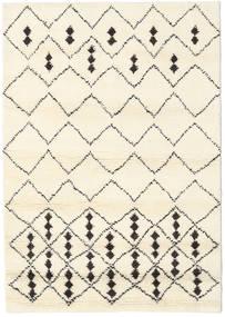 Berber Indo - Off-Valkoinen/Musta Matto 140X200 Moderni Käsinsolmittu Beige/Valkoinen/Creme (Villa, Intia)