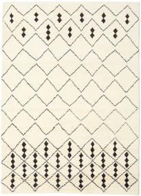 Berber Indo - Off-Valkoinen/Musta Matto 210X290 Moderni Käsinsolmittu Beige/Valkoinen/Creme (Villa, Intia)