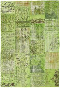 Patchwork Matto 161X238 Moderni Käsinsolmittu Vaaleanvihreä/Oliivinvihreä (Villa, Turkki)