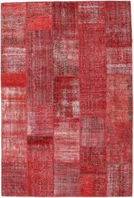 Patchwork Matto 203X305 Moderni Käsinsolmittu Tummanpunainen/Ruoste (Villa, Turkki)