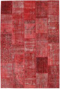Patchwork Matto 201X299 Moderni Käsinsolmittu Tummanpunainen/Ruoste (Villa, Turkki)