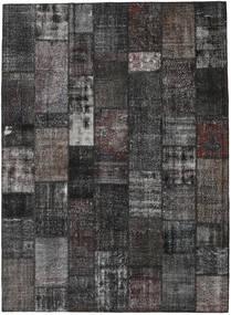 Patchwork Matto 273X374 Moderni Käsinsolmittu Tummanharmaa Isot (Villa, Turkki)