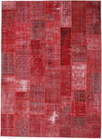 Patchwork Matto 272X370 Moderni Käsinsolmittu Tummanpunainen/Punainen Isot (Villa, Turkki)