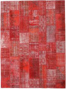 Patchwork Matto 270X367 Moderni Käsinsolmittu Tummanpunainen/Ruoste Isot (Villa, Turkki)