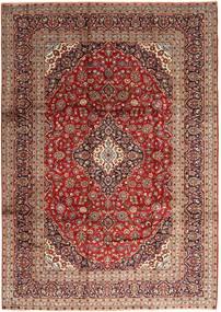 Keshan Matto 247X350 Itämainen Käsinsolmittu Tummanpunainen/Tummanruskea (Villa, Persia/Iran)