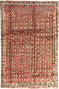 Afshar Matto 195X295 Itämainen Käsinsolmittu Tummanpunainen/Tummanruskea (Villa, Persia/Iran)