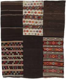 Kelim Patchwork Matto 209X255 Moderni Käsinkudottu Tummanruskea/Vaaleanharmaa (Villa, Turkki)