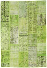 Patchwork Matto 204X298 Moderni Käsinsolmittu Vaaleanvihreä/Oliivinvihreä (Villa, Turkki)