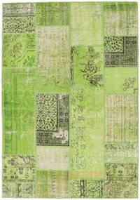 Patchwork Matto 161X232 Moderni Käsinsolmittu Vaaleanvihreä/Vihreä (Villa, Turkki)