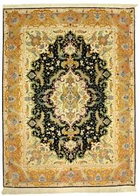 Tabriz 70Raj Silke Varp Matto 152X205 Itämainen Käsinsolmittu (Villa/Silkki, Persia/Iran)