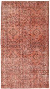 Colored Vintage Matto 116X211 Moderni Käsinsolmittu Tummanpunainen/Vaaleanpunainen (Villa, Turkki)
