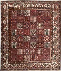 Bakhtiar Patina Matto 278X330 Itämainen Käsinsolmittu Tummanpunainen/Ruskea Isot (Villa, Persia/Iran)