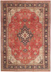 Tabriz Patina Matto 236X340 Itämainen Käsinsolmittu Tummanpunainen/Ruskea (Villa, Persia/Iran)
