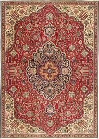 Tabriz Patina Matto 230X328 Itämainen Käsinsolmittu Tummanruskea/Tummanpunainen (Villa, Persia/Iran)